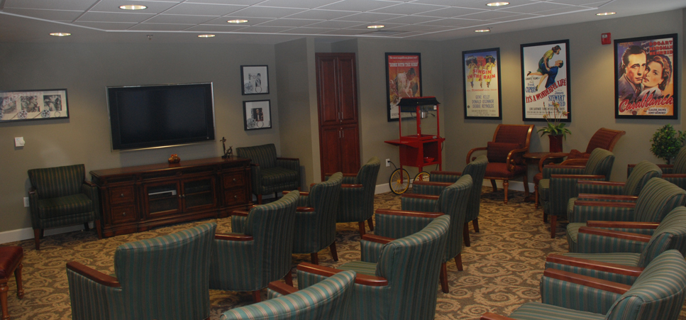 Theater room at our Kennewick senior living