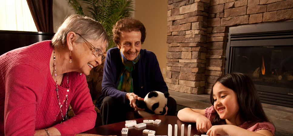 Seniors enjoying games Regency Newcastle