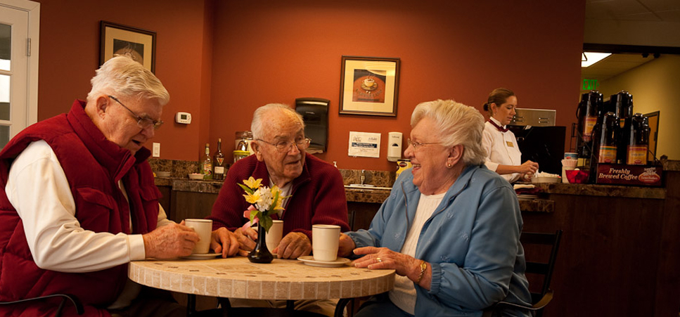 Seniors socializing Regency Newcastle