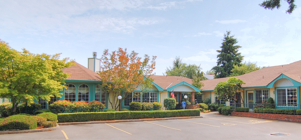 Inviting entrace at our Salem senior living community