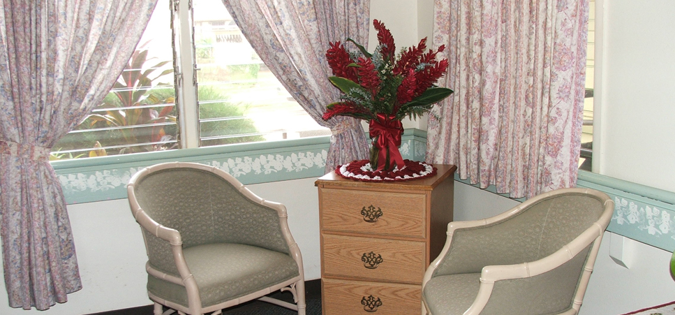 Visiting room at our Waimea senior living community