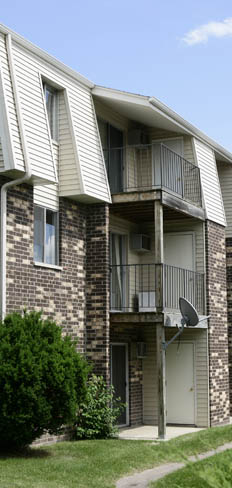 Building exterior at our apartments for rent in Fitchburg, WI 53713