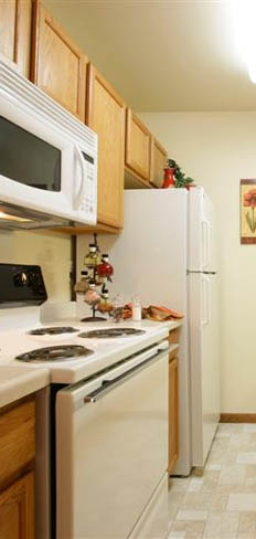 Our Fitchburg two bedroom apartments feature bright cheery kitchens