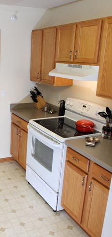 Updated kitchen at our Madison apartment rentals