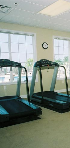 Fitness center at our Madison apartment rentals
