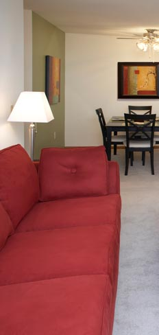 Model at our apartments for rent in Milwaukee, WI 53224