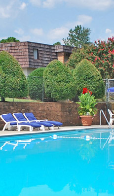 Chapel hill apartments pool at PineGate
