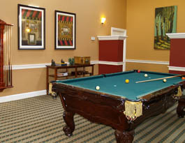 Billiards room Arbor Terrace at Chestnut Hill