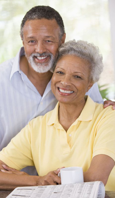 Couple at sandy springs apartments