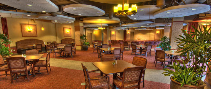 The bistro at Chateau at Bothell Landing senior living community in Washington