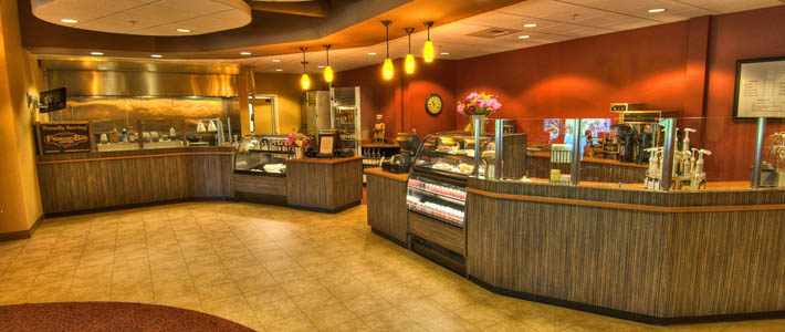 Bistro counter at Chateau at Bothell Landing independent living community