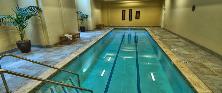 Indoor pool at the assisted living community - Chateau at Bothell Landing - Washington