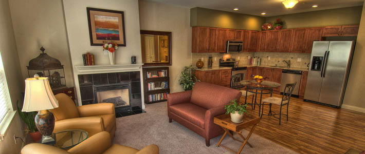 Resident living area at Chateau Pacific in Lynnwood