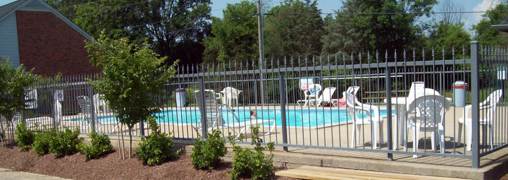 Swimming pool exterior at apartments in Mt. Juliet