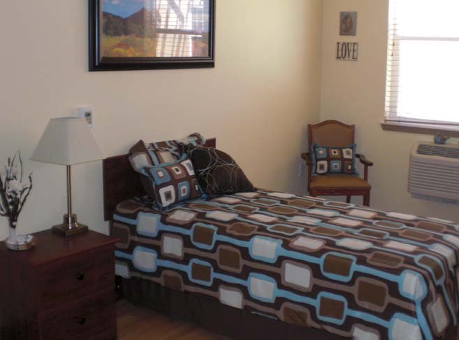 Retirement living in Green Valley, AZ with hardwood floors in resident rooms