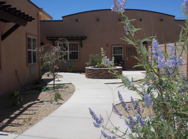 Sunny courtyards at our Green Valley senior living community