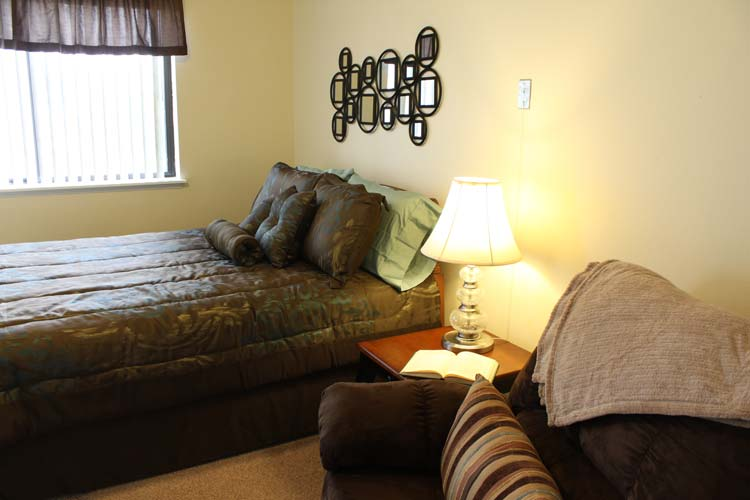 Bright spacious resident rooms at our Boise senior living