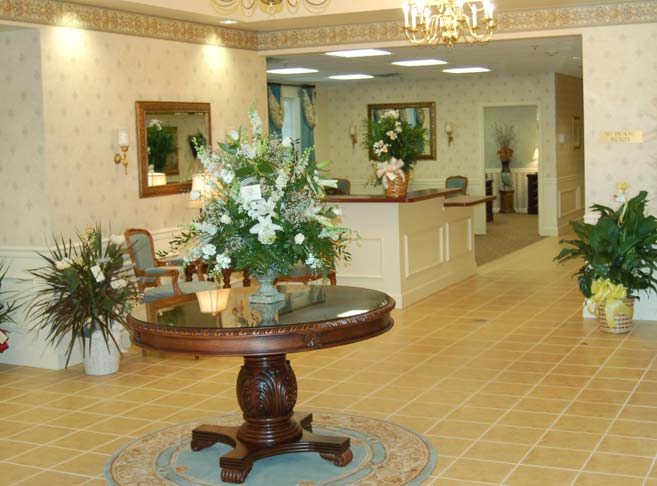 Elegant lobby at our Granite City senior living