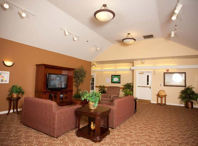 Retirement living in Hillsboro, OR with a cozy tv room