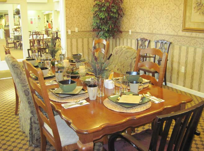 Private dining room at our retirement community in McMinnville, OR 97128