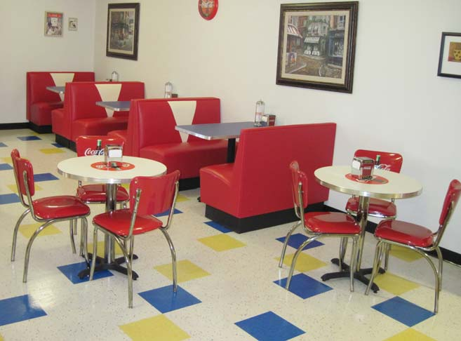 Our McMinnville senior care community features a retro soda fountain