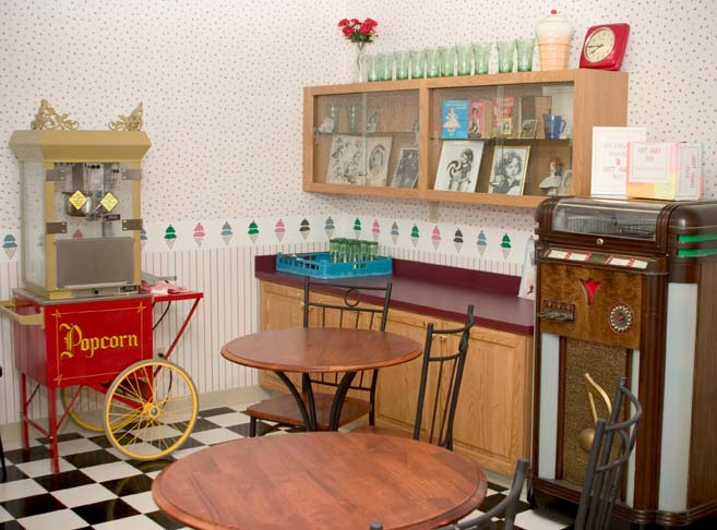 Retro soda fountain at our retirement community in Oregon City, OR 97045