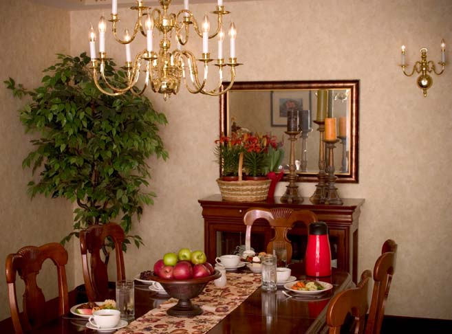 Our Oregon City senior care community features a stylish private dining room