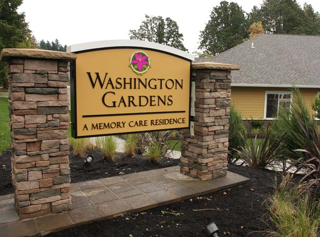 Entry sign at our Tigard senior living