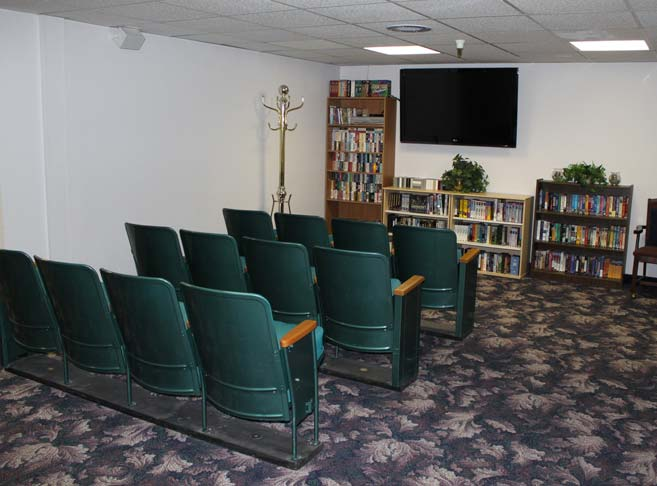 Junction City Retirement & Assisted Living features a theater room