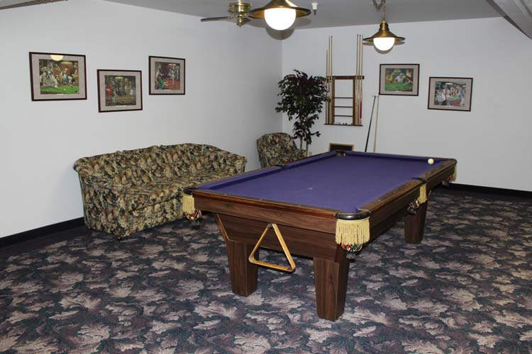 Billards room at our retirement community in Junction City, OR 97448