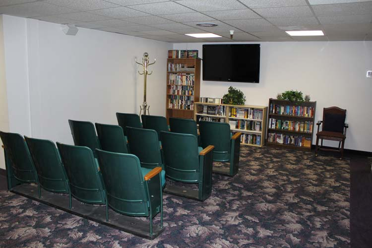 Our Junction City senior care community features a movie theatre