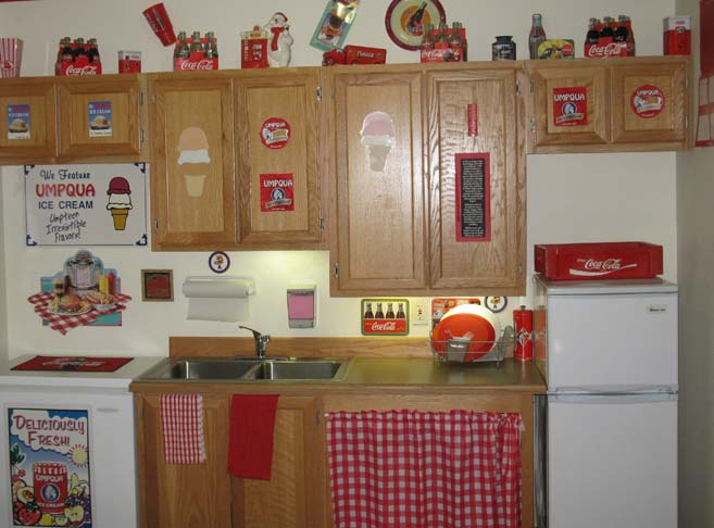 Themed kitchenettes at our retirement community in Roseburg, OR 97471