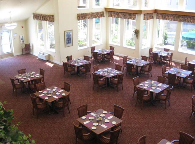 Callahan Village features a light filled dining room