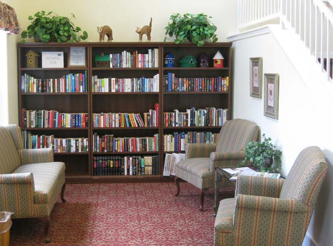 Well stocked library at our retirement community in Roseburg, OR 97471