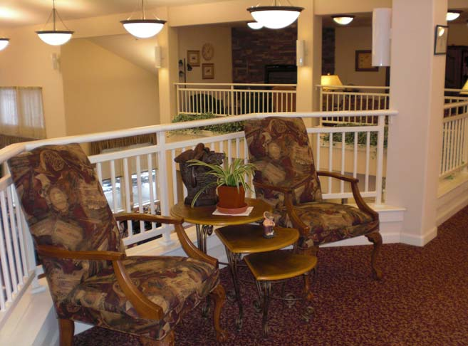 Intimate sitting areas at our Hood River senior living