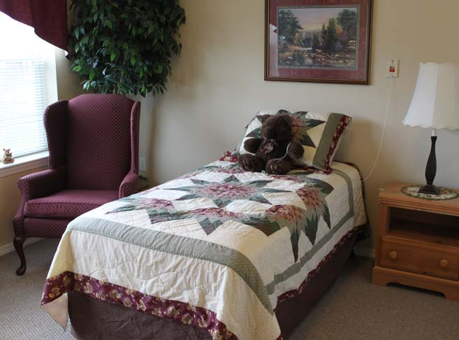 Light filled residence rooms at our retirement community in Hood River, OR 97031
