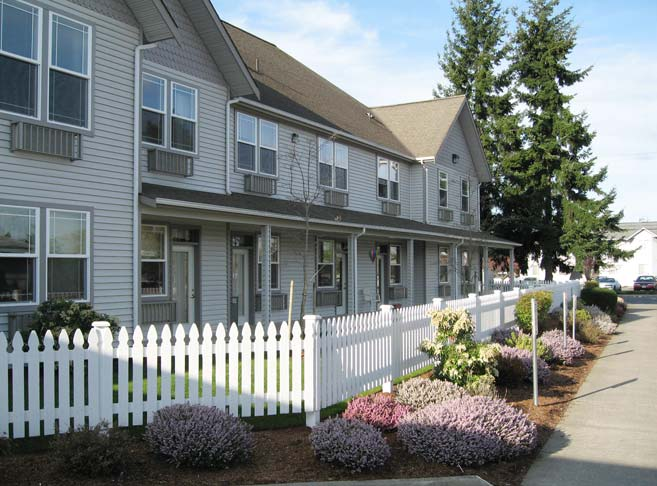 Retirement living in Burlington, WA with beautifully landscaped grounds