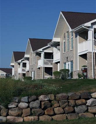 Exterior of apartments in Wisconsin