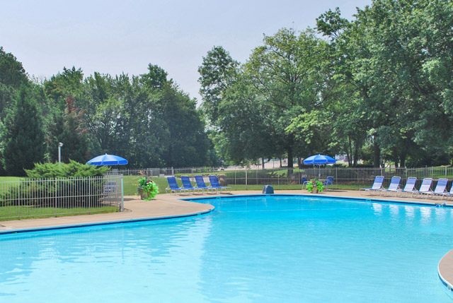 Swimming pool at Chesterfield Village apartments in richmond, va.