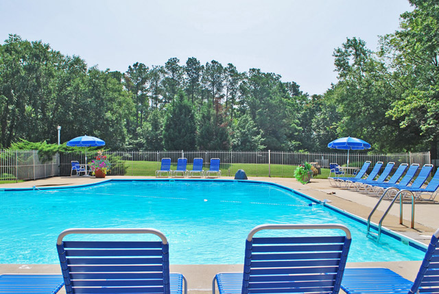 Chesterfield village apartments in Richmond, va has a pool.