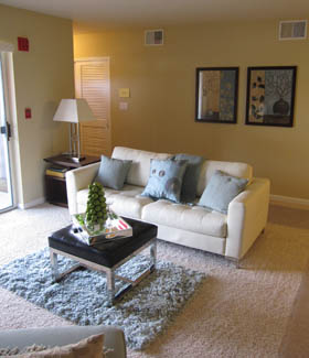 Condos in Germantown feature spacious living rooms
