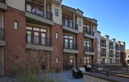 Explore the courtyard at Chapel Hill North Apartments
