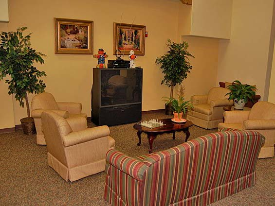 Cozy clubhouse lounge at our retirement community in Norwalk, CA 90650