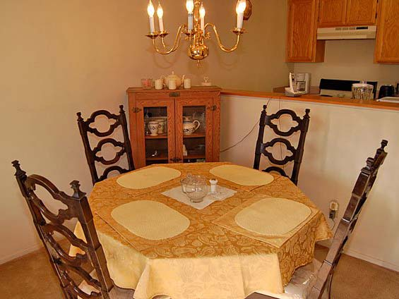 Intimate dining rooms at San Antonio Gardens Senior Apartments, Norwalk retirement living