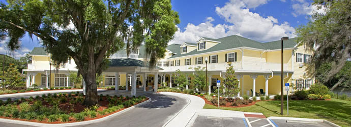 The beautiful exterior of one of  Arbor Oaks Senior Living communities