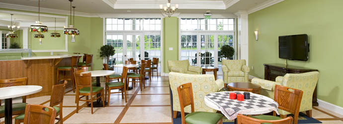 The cafe at one of Arbor Oaks Senior Living communities