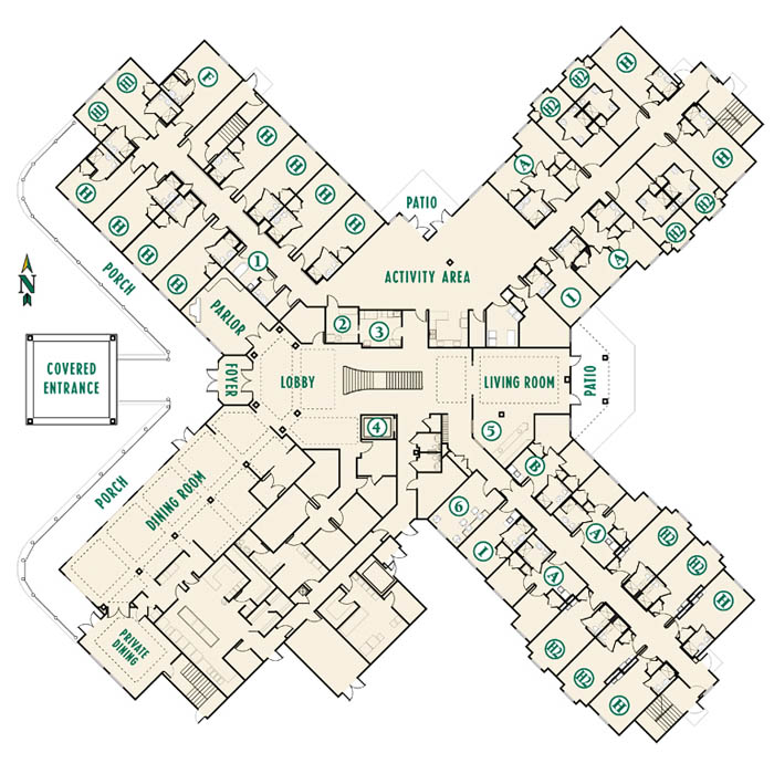 Greenacres senior apartments floor plans arbor oaks at for Best flooring for seniors