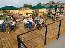 Hang out on the rooftop at apartments in Charlotte