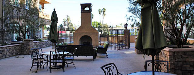 Courtyard at our Van Nuys senior apartments