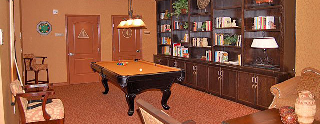 Billiards room at our senior apartments in Van Nuys, CA